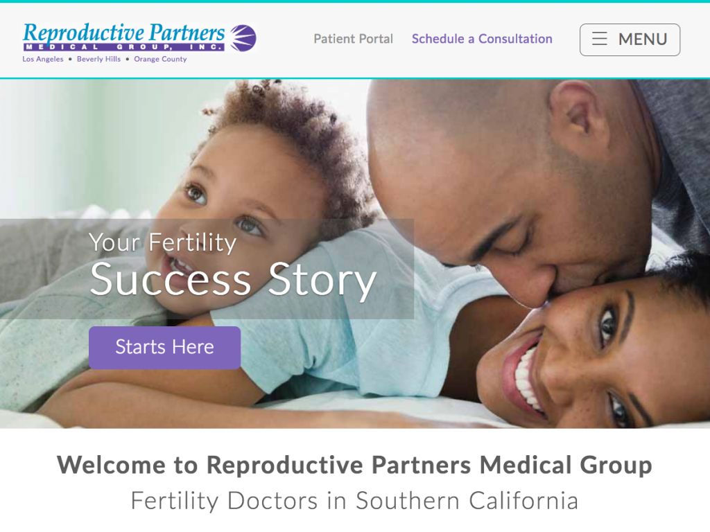 Reproductive Partners Website Relaunch
